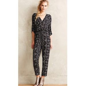 Anthropologie Elevenses Dacey Black Jumpsuit
